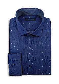 Andrew Fezza Slim Fit Dot Dress Shirt