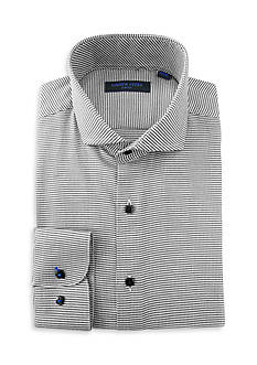 Andrew Fezza Slim Fit Mini Check Dress Shirt