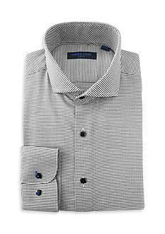 Andrew Fezza Slim Fit Mini Check Dress Shirt