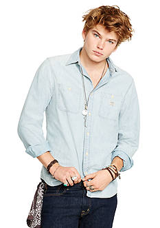 Denim & Supply Ralph Lauren Light-Wash Chambray Shirt