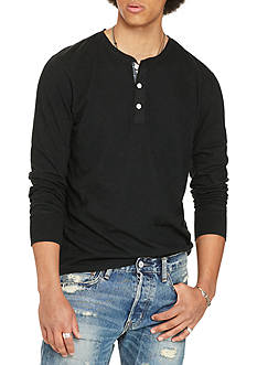 Denim & Supply Ralph Lauren Long Sleeve Flag-Placket Jersey Henley