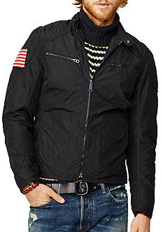 Denim & Supply Ralph Lauren Wax Nylon Moto Jacket