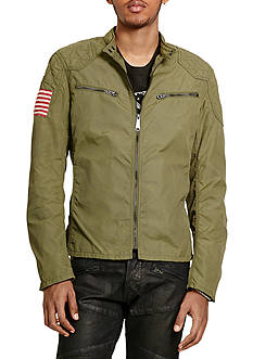 Denim & Supply Ralph Lauren Waxed-Nylon Moto Jacket