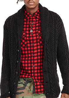 Denim & Supply Ralph Lauren Long Sleeve Cable-Knit Cardigan