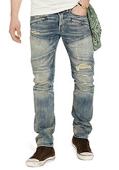Denim & Supply Ralph Lauren Prospect Slim Fit Moto Jeans