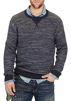 Denim & Supply Ralph Lauren Long Sleeve Cotton Crewneck Sweater