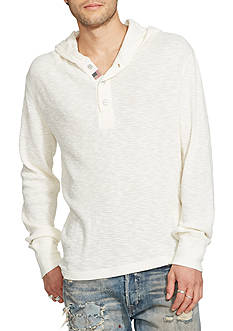 Denim & Supply Ralph Lauren Waffle-Knit Cotton Henley