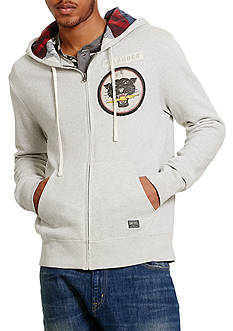 Denim & Supply Ralph Lauren Long Sleeve French Terry Full-Zip Hoodie