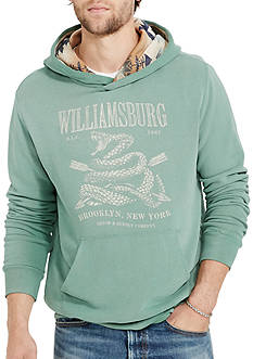 Denim & Supply Ralph Lauren Long Sleeve French Terry Graphic Hoodie