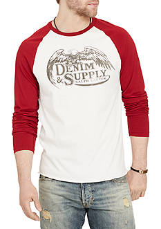 Denim & Supply Ralph Lauren Jersey Baseball Graphic Tee
