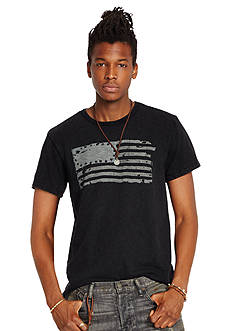 Denim & Supply Ralph Lauren Slub Jersey Flag-Graphic Tee