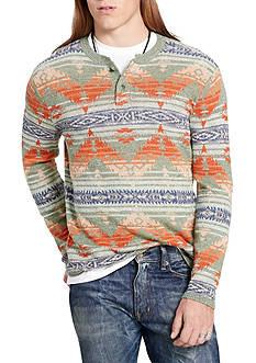Denim & Supply Ralph Lauren Long Sleeve Southwestern Cotton Henley