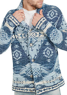 Denim & Supply Ralph Lauren Southwestern Cotton Cardigan