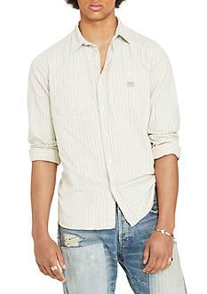 Denim & Supply Ralph Lauren Long Sleeve Striped Cotton Shirt