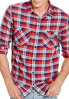 Denim & Supply Ralph Lauren Ward Plaid Cotton Sport Shirt