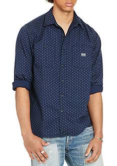 Denim & Supply Ralph Lauren Circle-Print Cotton Workshirt