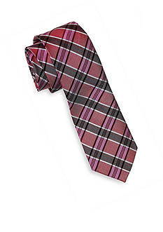 Andrew Fezza Pink Plaid Tie