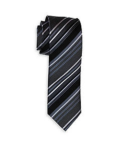 Andrew Fezza Black White Stripe Tie