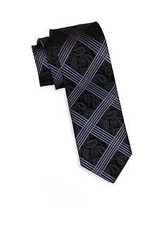 Andrew Fezza Black & Blue Paisley Tie