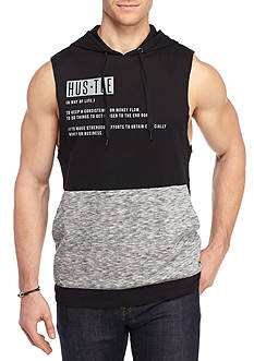 FIVE.BY.FIVE By Master Piece Sleeveless Hustle Marl Hoodie