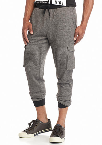 FIVE.BY.FIVE By Master Piece Marl Knit Cargo Jogger Pants