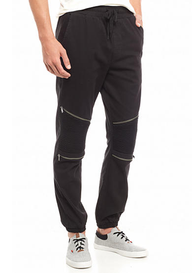 FIVE.BY.FIVE By Master Piece Stretch Twill Moto Jogger Pants