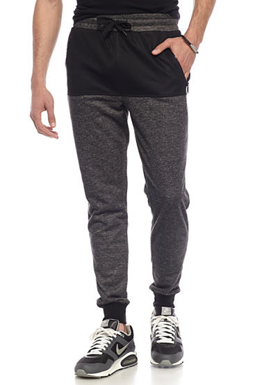 FIVE.BY.FIVE By Master Piece Blocked Marl Jogger Pants