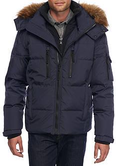S13 Faux Fur Down Jacket