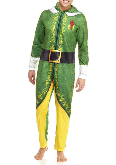 Briefly Stated Buddy the Elf Hooded Union Suit