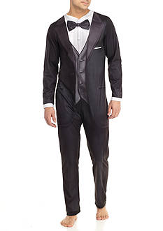 Briefly Stated Tuxedo Adult Union Suit