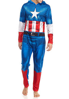 Briefly Stated Captain America® Hooded Union Suit