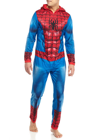 Briefly Stated Spider-man® Hooded Adult Union Suit