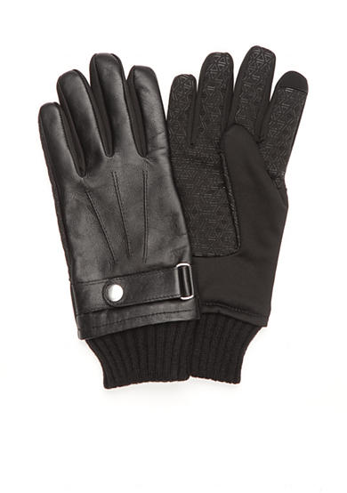 SB Tech® Leather Softshell Touchscreen Gloves
