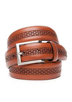 Tommy Bahama® Center Inlay Leather Belt