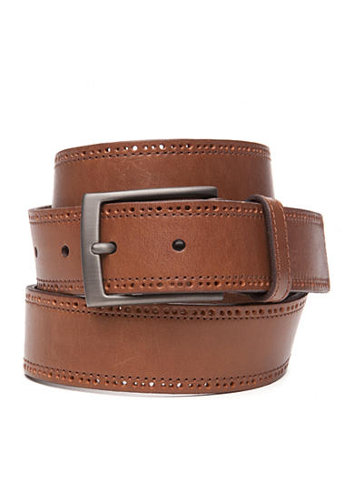 Tommy Bahama® Perforated Edge Leather Belt