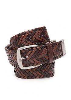 Tommy Bahama Tubular Braid Leather Belt