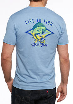 Ocean & Coast Short Sleeve 'Live to Fish' Graphic Tee