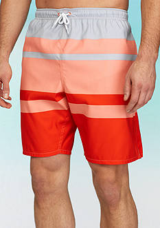 Saddlebred® Big & Tall Stripe Swim Trunks