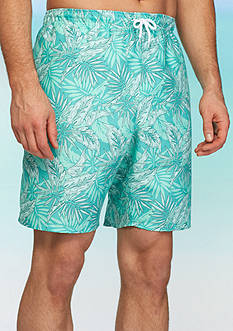 Saddlebred® Big & Tall Floral Swim Trunks