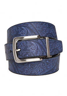 Tallia Orange 1.38-in. Paisley Print Reversible Belt