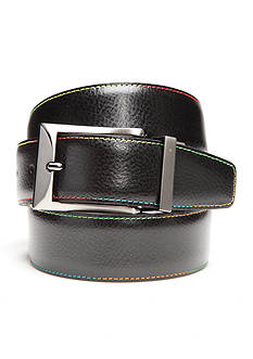 Tallia Orange 1.38-in. Contrast Stitched And Solid Stitched Reversible Belt