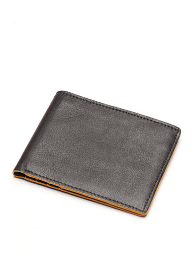 Tallia Orange Colored Edges Bifold Wallet