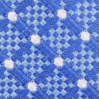 Mens Designer Ties: Medium Blue Nautica Liner Dot Tie