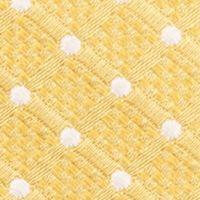Mens Designer Ties: Yellow Nautica Liner Dot Tie