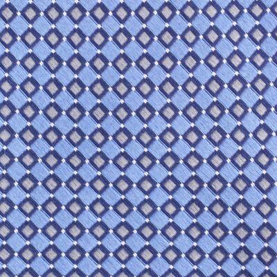 Mens Designer Ties: Blue Nautica Flagship Geo Tie