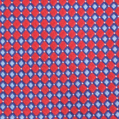 Mens Designer Ties: Red Nautica Flagship Geo Tie
