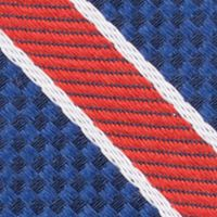 Mens Ties: Striped: Red Nautica Anchor Stripe Tie
