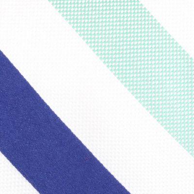 Mens Designer Ties: Green Nautica Fairlead Stripe Tie