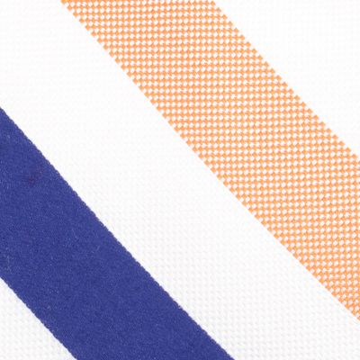 Mens Designer Ties: Orange Nautica Fairlead Stripe Tie
