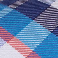Mens Ties: Plaid: Blue Nautica Core Neat Tie